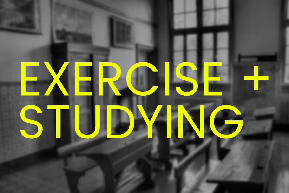 exercise while you study