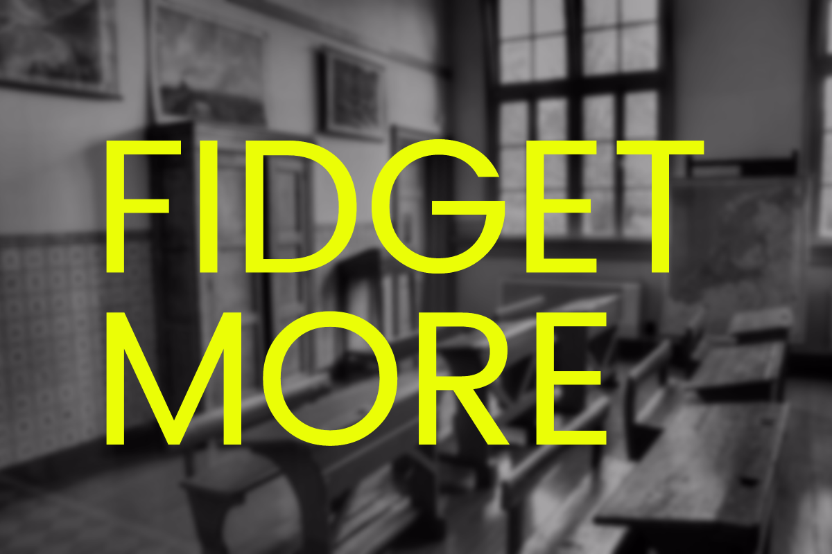 fidget in class to lose weight