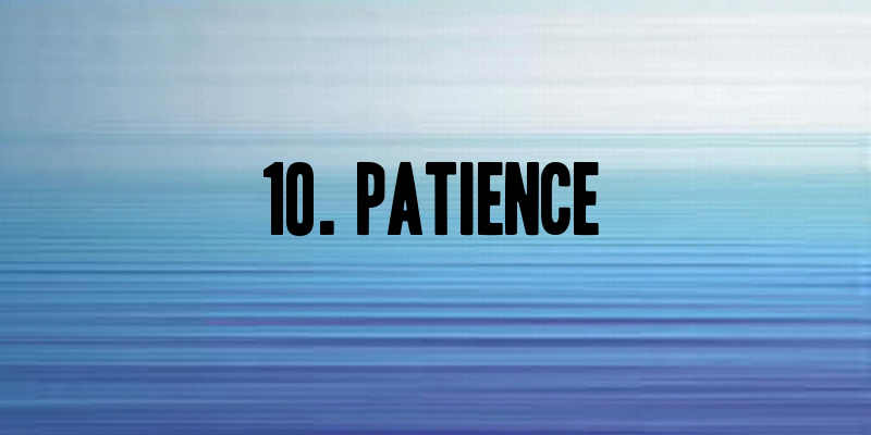 patience when trying to lose weight