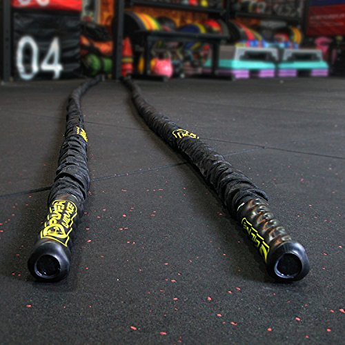 HIIT in the Gym Exercises with Battle Ropes