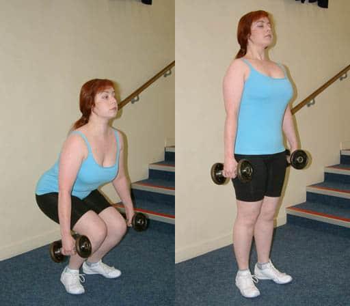 Dumbbell Deadlift exercise example