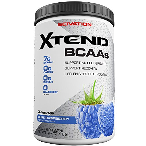 BCAA blue raspberry powder supplement muscle growth synthesis
