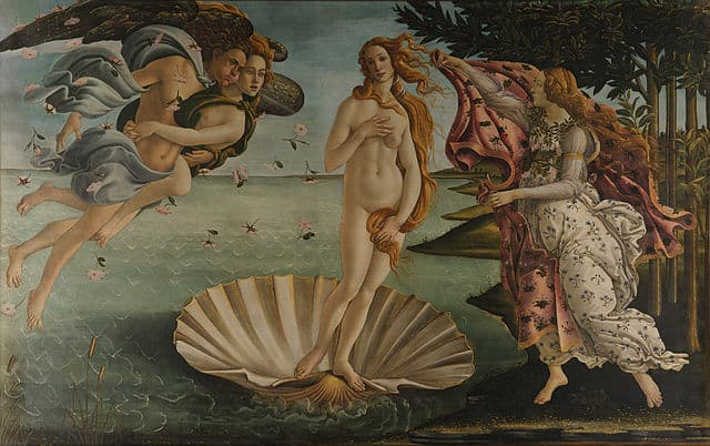 Sandro Botticelli La nascita di Venere the birth of Venus painting factor