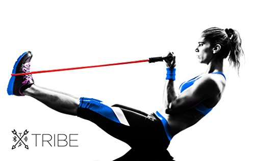 bicep and core crunch workout with bands