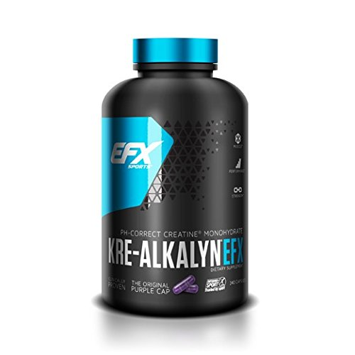kre-alkalyn efx ph-correct buffered creatine monohydrate purple caps for sports