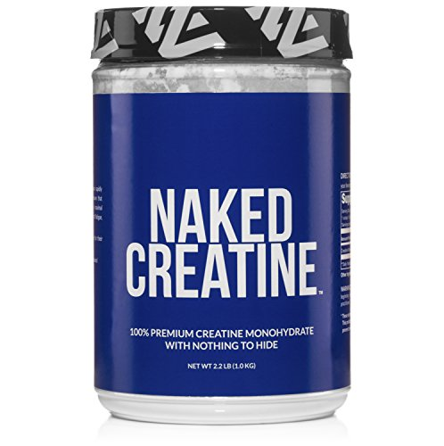 naked pure premium creatine monohydrate workout supplement for muscle pump and energy