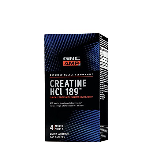 creatine hcl by gnc with peg polyethylene glycosylated for enhanced bioavailability
