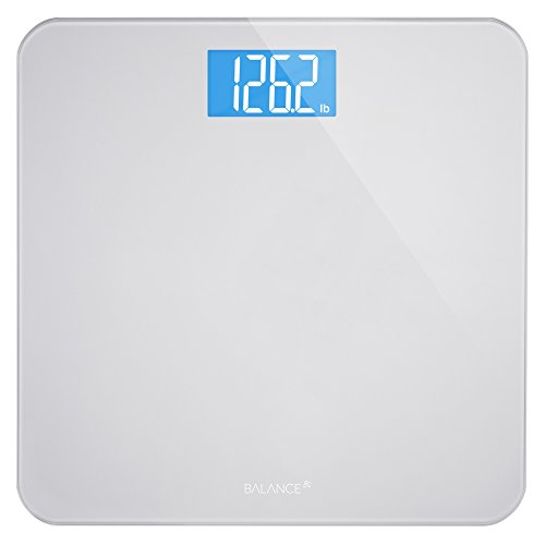 bathroom scale to keep track of weight loss and gain fitness goals
