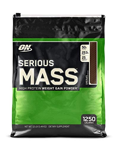 optimum nutrition serious mass gainer high protein weight gain powder for maximum muscle growth