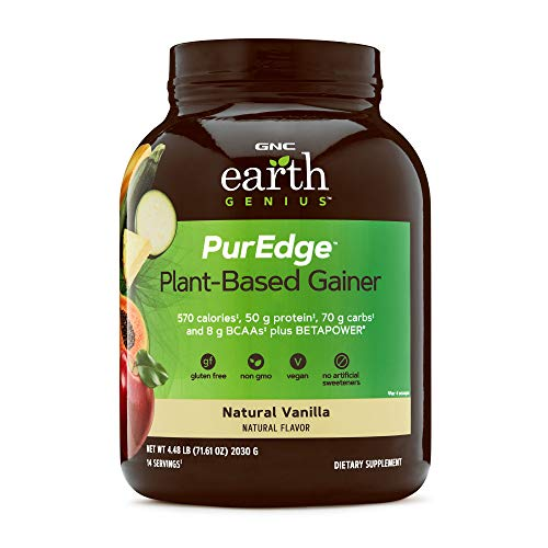 GNC nutrition earth genius puredge plant based mass gainer vanilla supplement review