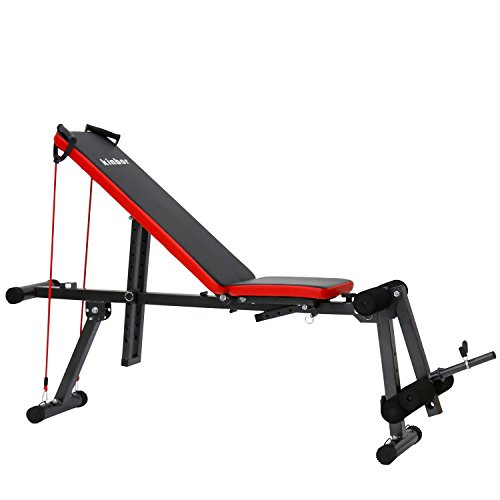 Resistance band bench for working out weightlifting breaking plateaus