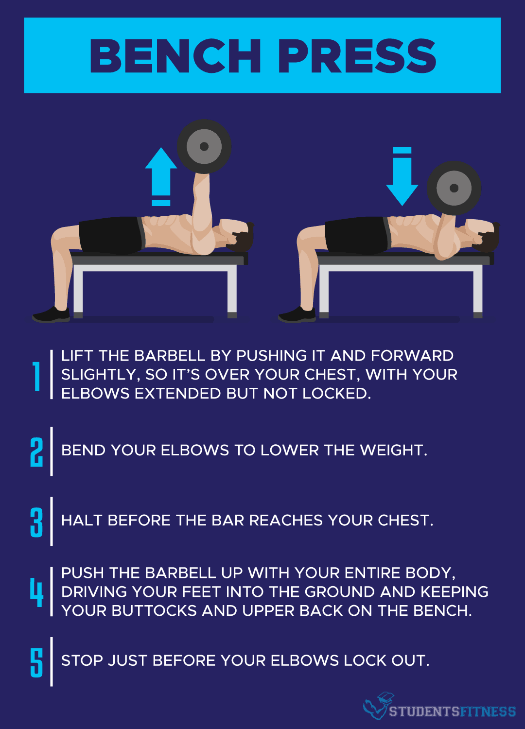 How to Do the Bench Press Exercise - Students Fitness