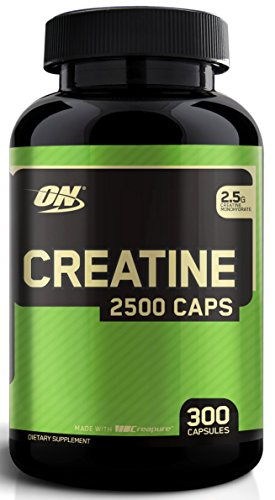 Creatine monohydrate capsules easy dosing of dietary supplement for ATP energy cycle
