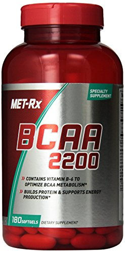 BCAA capsules MET-Rx pills stimulate protein synthesis muscle growth metabolism