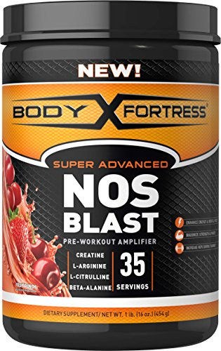 Body Fortress Super Advanced NOS Blast Pre-workout amplifier cheap budget supplement