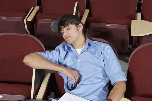 College student sleeping napping adequate rest for maximum muscle strength gain recovery