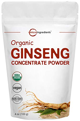 Organic ginseng powder increase energy vitality strength longer gym visits