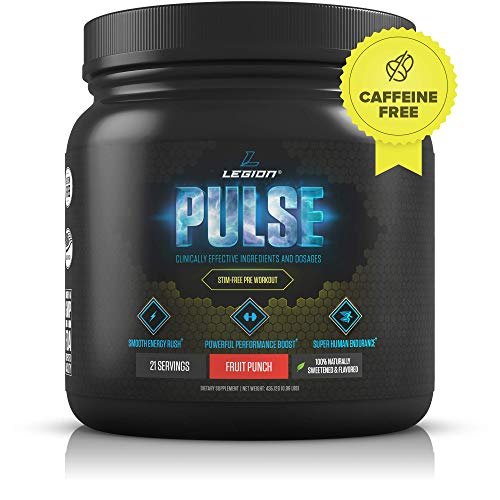 Legion Pulse Caffeine Free preworkout powder for girls gals