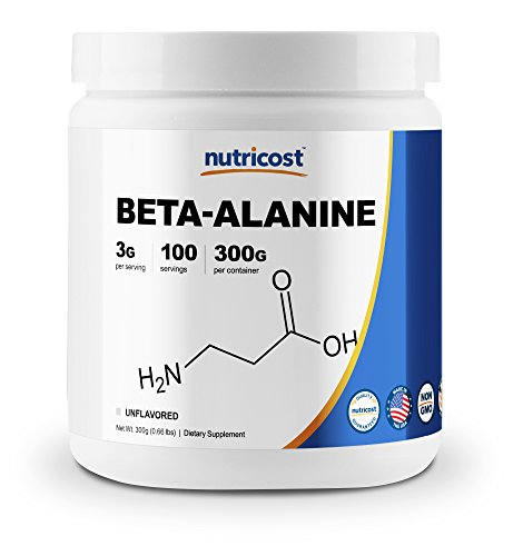 Nutricost beta alanine supplement unflavored pure chemical non gmo