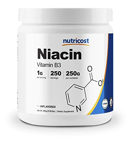 Niacin vitamin B3 flush dilate blood vessels for exercise muscle performance