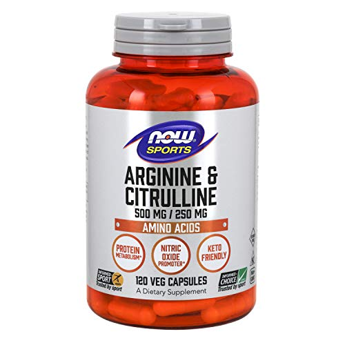 Now Sports arginine citrulline amino acid supplement improve exercise