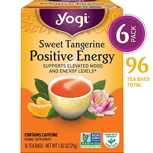 Yogi Teas Sweet Tangerine Positive Energy elevated mood energy levels