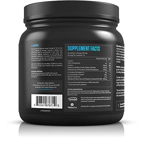 Legion Pulse natural low stimulant protein powder without creatine