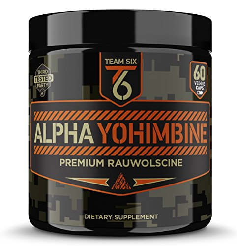 Team Six Alpha Yohimbine rauwolscine supplement improve strength masculinity testosterone