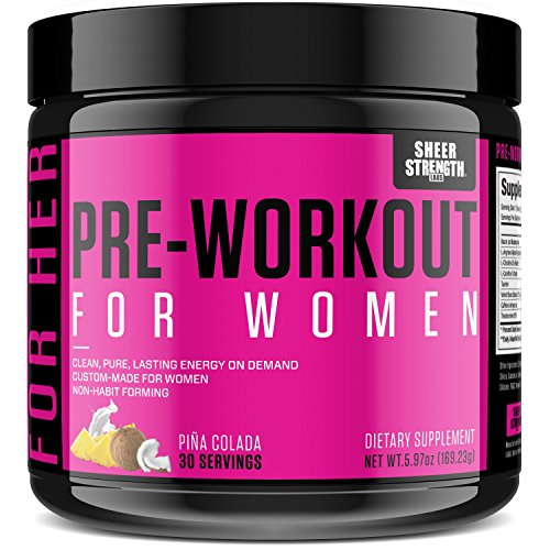 Sheer Strengh Pre-Workout For Her Women pina colada dietary supplement