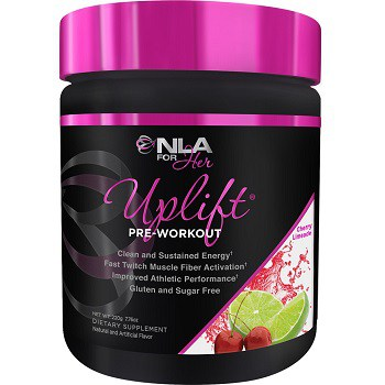 NLA For Her Uplift Pre-Workout clean and sustained energy good for muscle gain