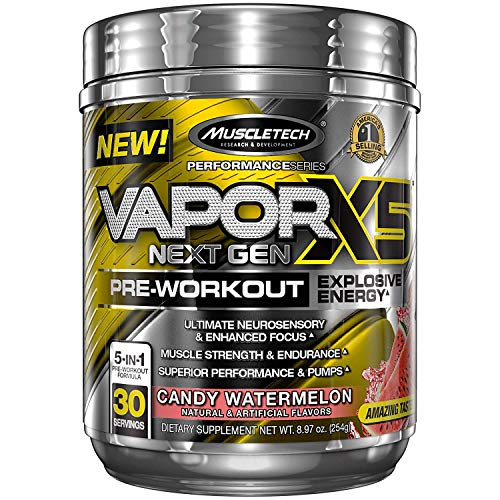 MuscleTech Vapor X5 Next Gen Pre-Workout Explosive Energy Supplement