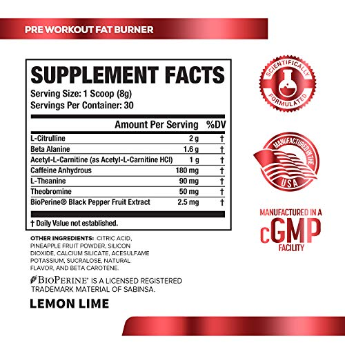 Biggest muscle pump thermogenic pre workout supplement cGMP formulated