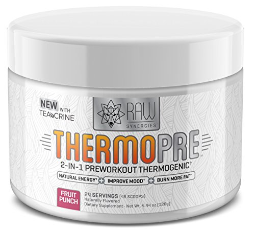Raw Synergies ThermoPRE preworkout thermogenic improve mood natural energy